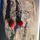 Náušnice - Červené - 11515701_