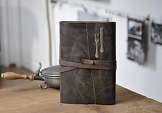 Papiernictvo - kožený zápisník - receptár VIBEKA - 11517667_