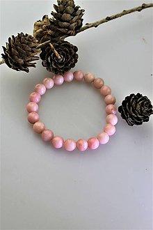 Náramky - náramok opál - ružový prírodný opál - 11519011_