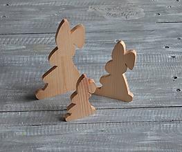 Polotovary - zajačik s ovisnutým uškom - malý - 11517680_