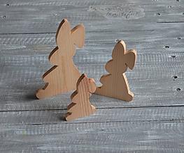 Polotovary - zajačik s ovisnutým uškom - veľký - 11517685_