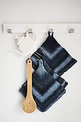 Úžitkový textil - Ručne pletená chňapka - plstený melír - 11517121_
