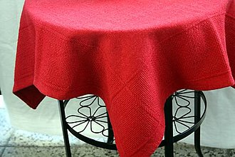 Úžitkový textil - Obrus. Tkaný ľanový s preberaninou. - 11518383_