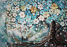 Obrazy - Tyrkysový strom - 11516374_
