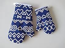 Úžitkový textil - Chňapky čičmany modré - 11515954_