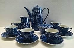 Nádoby - ručne maľovaná kávová porcelánová súprava - 11517043_