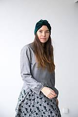 Čiapky - Zamatový turban - 11517207_