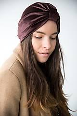 Čiapky - Zamatový turban - 11517290_