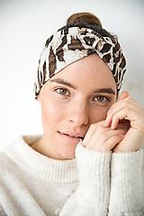 Čiapky - Dámska čelenka so zvieracím vzorom - 11517753_