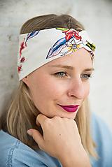 Čiapky - Kvetovaná čelenka jar - 11517822_
