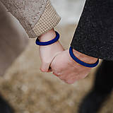 - ONaONA elegantné náramky pre páry, modré - 11518279_