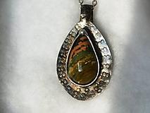 Náhrdelníky - Jaspis oceán, tiffany - 11522520_