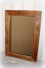 Zrkadlá - Zrkadlo masívne - Dubové č.2, Natural - olej, kartáč - 11519388_