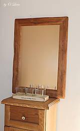 Zrkadlá - Zrkadlo masívne - Dubové č.2, Natural - olej, kartáč - 11519394_