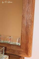 Zrkadlá - Zrkadlo masívne - Dubové č.2, Natural - olej, kartáč - 11519395_