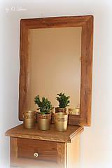 Zrkadlá - Zrkadlo masívne - Dubové č.2, Natural - olej, kartáč - 11519396_