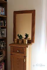 Zrkadlá - Zrkadlo masívne - Dubové č.2, Natural - olej, kartáč - 11519397_