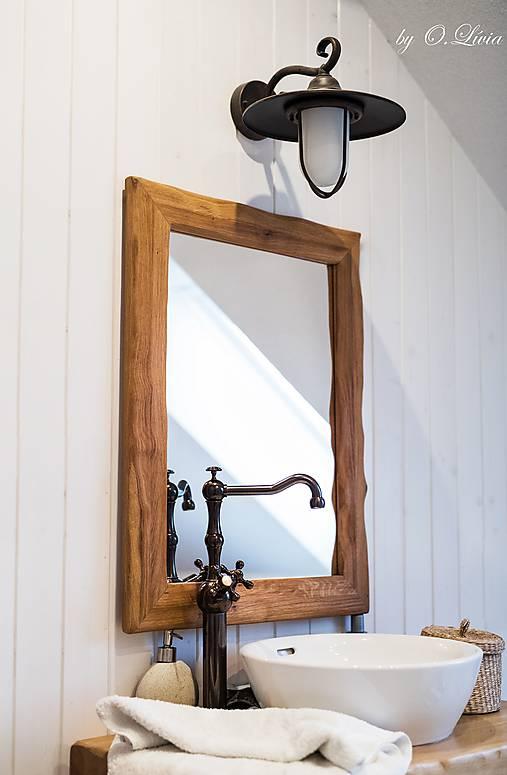 Zrkadlo masívne - Dubové č.2, Natural - olej, kartáč