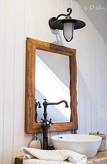 Zrkadlá - Zrkadlo masívne - Dubové č.2, Natural - olej, kartáč - 11519373_