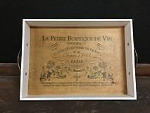 "Nádoby - Tácka "" La Petite Boutique De Vín "" - 11521350_"