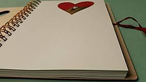 Papiernictvo - Drevený zápisník/skicár - Dvaja. - 11520501_