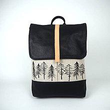 Batohy - Ruksak Natural stromčeky - 11521435_