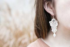 Náušnice - Vintage nevesta-Anna - soutache earring - ručne šité šujtášové náušnice - 11522802_