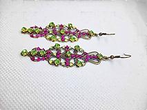Náušnice - kamienkové ornamentálne náušnice - 11523244_