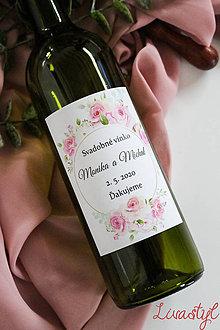 Papiernictvo - Etiketa na svadobné vínko - 11523105_
