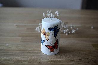 Svietidlá a sviečky - Sviečka Motýle - palmový vosk - 11519263_