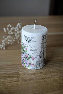 Svietidlá a sviečky - MAXIsviečka Paríž - palmový vosk - 11519271_