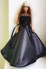 Hračky - Čierne princeznovské šaty pre Barbie - 11522672_