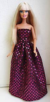 Hračky - Lesklé spoločenské šaty pre Barbie - 11522778_