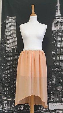 Sukne - Marhuľová šifónová sukňa - 11523198_