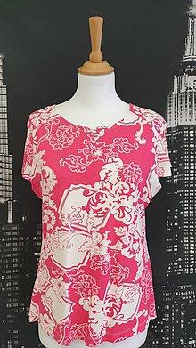 Tričká - Farebné voľné tričko veľ.38/40 - 11523209_