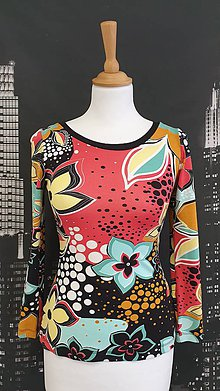 Tričká - Farebné tričko KVETY - 11523246_
