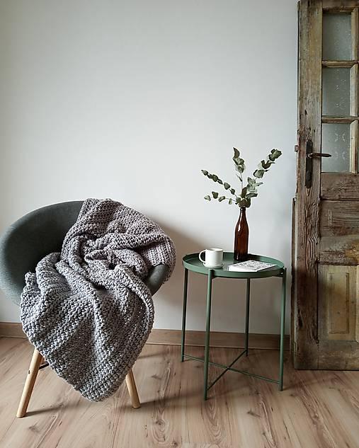 Úžitkový textil - Hrubá háčkovaná deka - 11519619_