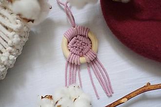 """Náhrdelníky - macramé náhrdelník """"v kruhu """"dusty pink - 11521121_"""