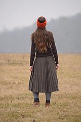 Ozdoby do vlasov - Čelenka čankyČELO - ZĽAVNENÉ (bezšvová), 100% merino - 11520423_