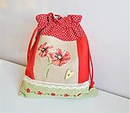 Úžitkový textil - Vrecúško výšivka MAKY - 11521212_