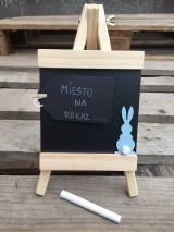 Tabuľky - tabuľka na odkaz modrý zajko - 11521703_