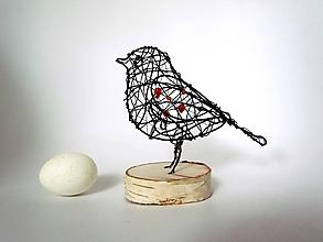 Socha - Vtáčik * 17 cm - 11520964_