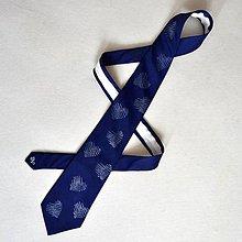 Doplnky - Tmavě modrá srdcová kravata - 11523341_
