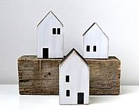 Dekorácie - Drevené domčeky-sada  - 11524083_