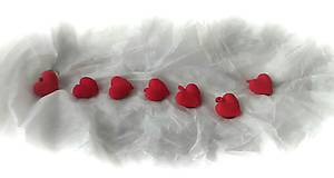 Kľúčenky - Valentínske srdiečka - 11523613_