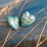 Náušnice - Tyrkysové srdcušky - 11523869_