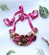Náhrdelníky - Kvetinový náhrdelník - 11524678_