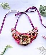 Náhrdelníky - Kvetinový náhrdelník - 11524694_