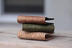 Tašky - Korková peňaženka unisex - lesná zelená - 11524214_