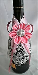 Iné doplnky - Stuhy na svadobné fľaše - 11524995_